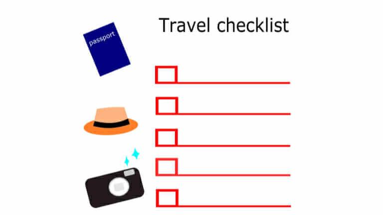 旅行 持ち物 リスト テンプレート